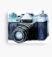 Watercolor vintage SLR camera Canvas Print