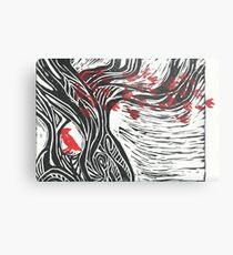 Wisdom of Trees - Red Raven Metal Print