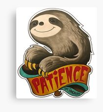 Patience Sloth Canvas Print