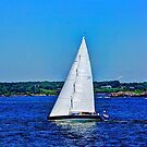 Sails on blue water ! by Nancy Richard