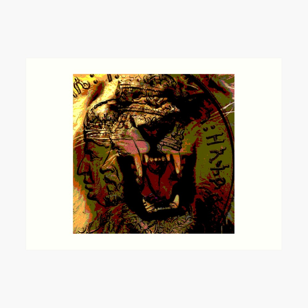 Jah Rasta Lion Power Art Print