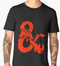 Dungeons and Dragons red Men's Premium T-Shirt