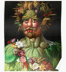 Rudolf II as Vertumnus by Giuseppe Arcimboldo, 1591 Poster
