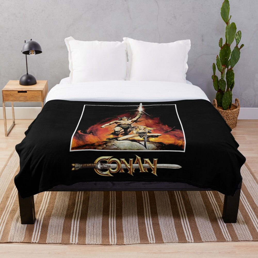 Conan The Barbarian Throw Blanket