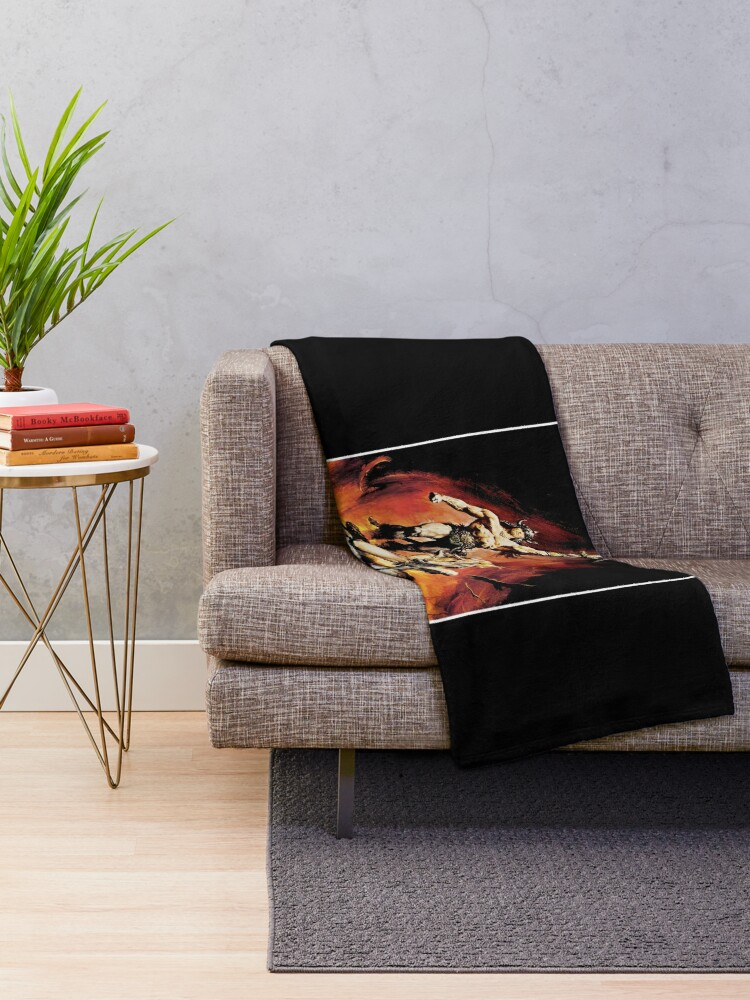 Alternate view of Conan The Barbarian Throw Blanket