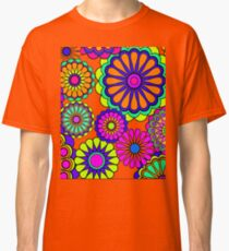 Flower Power Retro Stil Hippie Blumen Classic T-Shirt
