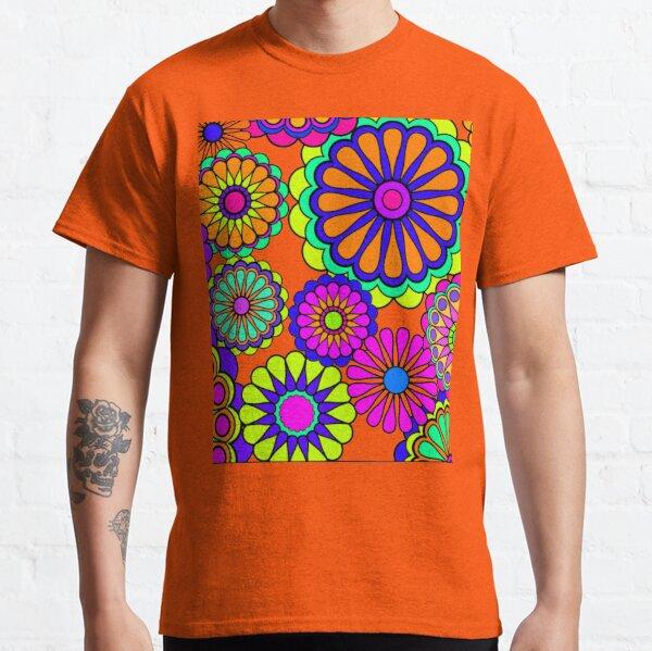 Flower Power Estilo Retro Hippy Flowers Camiseta clásica