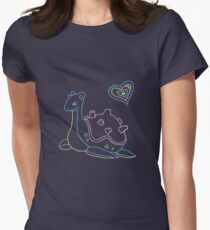Lapras love in neon T-Shirt