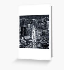 San Francisco Downtown Greeting Card