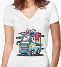 Killer Ice Cream Truck Women's Fitted V-Neck T-Shirt