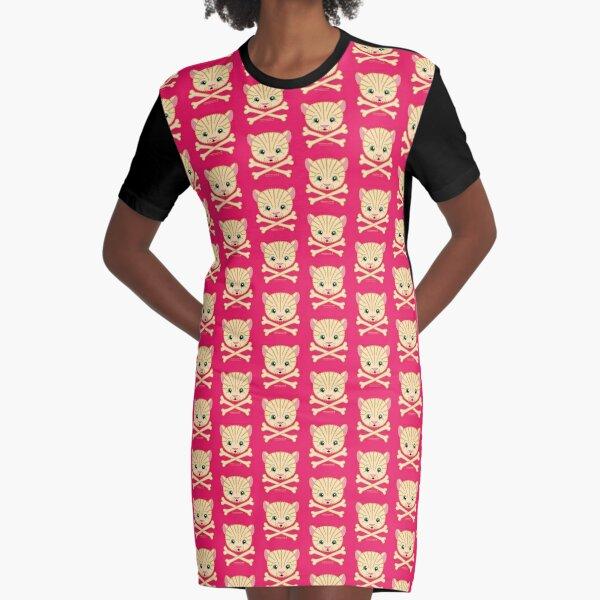 Fuzzybones™—Casey (Kitten) Graphic T-Shirt Dress