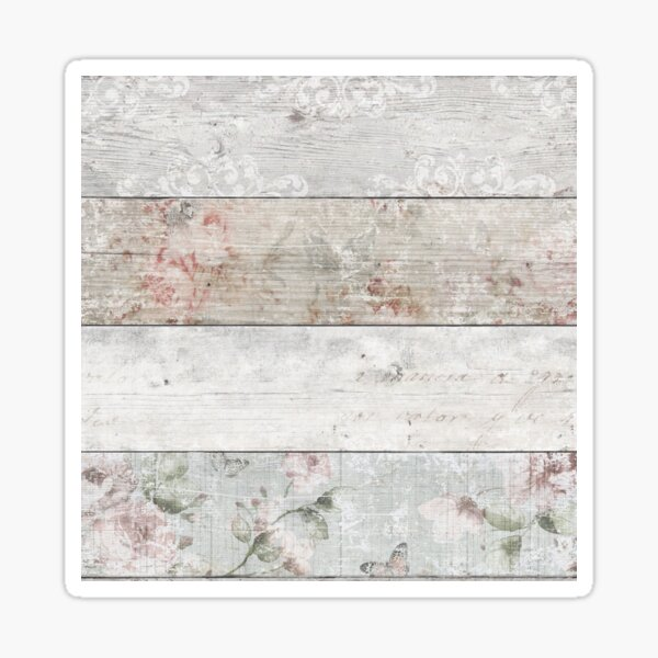 Floral wood Sticker