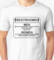 men left women right T-Shirt