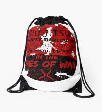 Jiu-Jitsu Fires of War Drawstring Bag