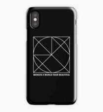 MONSTA X BEAUTIFUL TOUR IN THE US SEOUL WORLD T-SHIRT MERCH iPhone Case/Skin