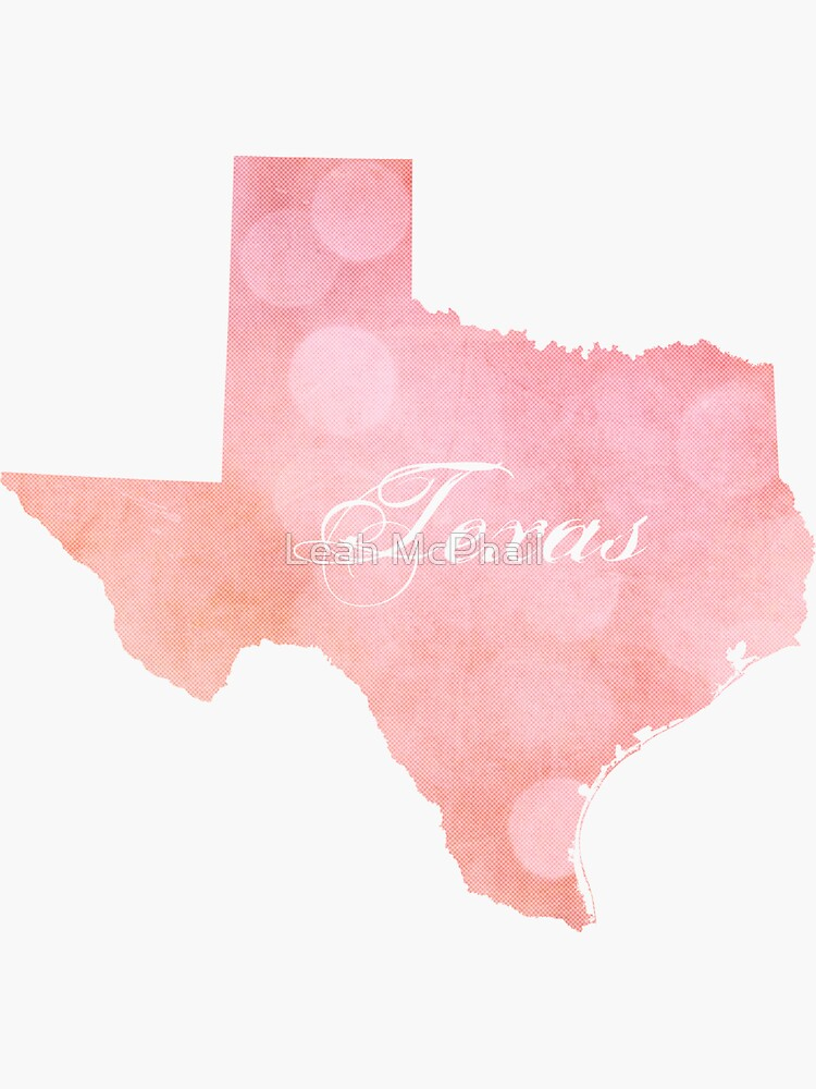Texas Pink And Coral Bokeh by LeahMcPhail