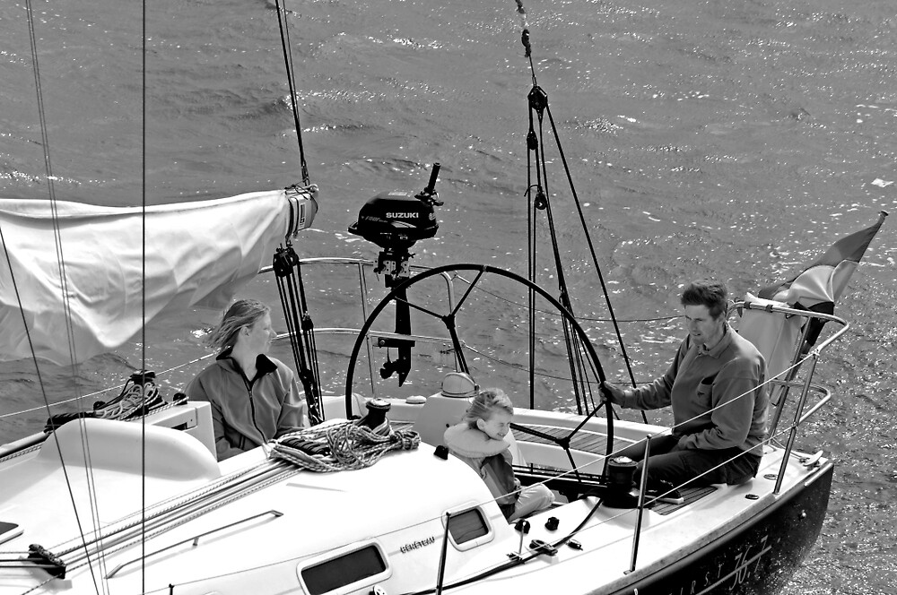Close-up of Yacht near Lymington by Rod Johnson