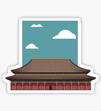 Chinese Temple Sticker