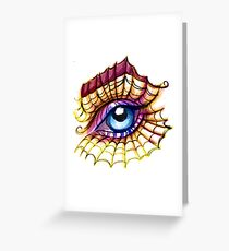 Spider Lashes  Greeting Card