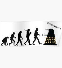 "Doctor Who Evolution - Dalek ""EXTERMINATE"" Poster"