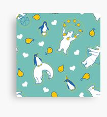 Penguins, pears, and bears  Canvas Print