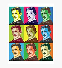 Nikola Tesla Pop Art Photographic Print