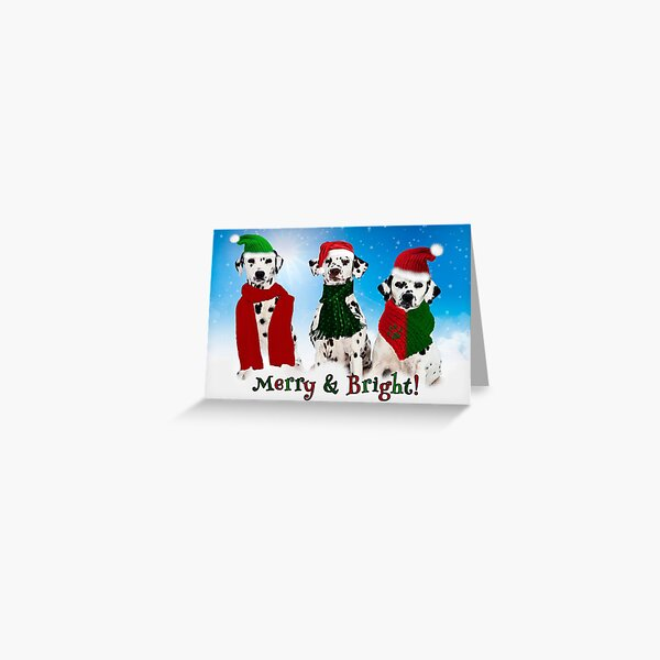 Holiday Snow Dogs!  Greeting Card
