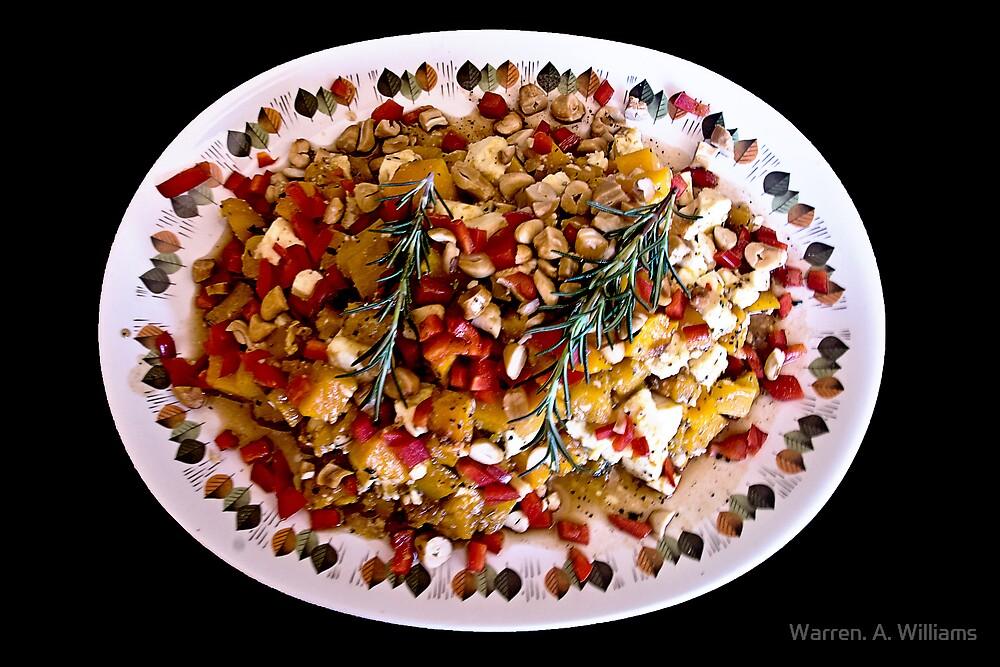 Butternut + Feta Cheese Salad by Warren. A. Williams