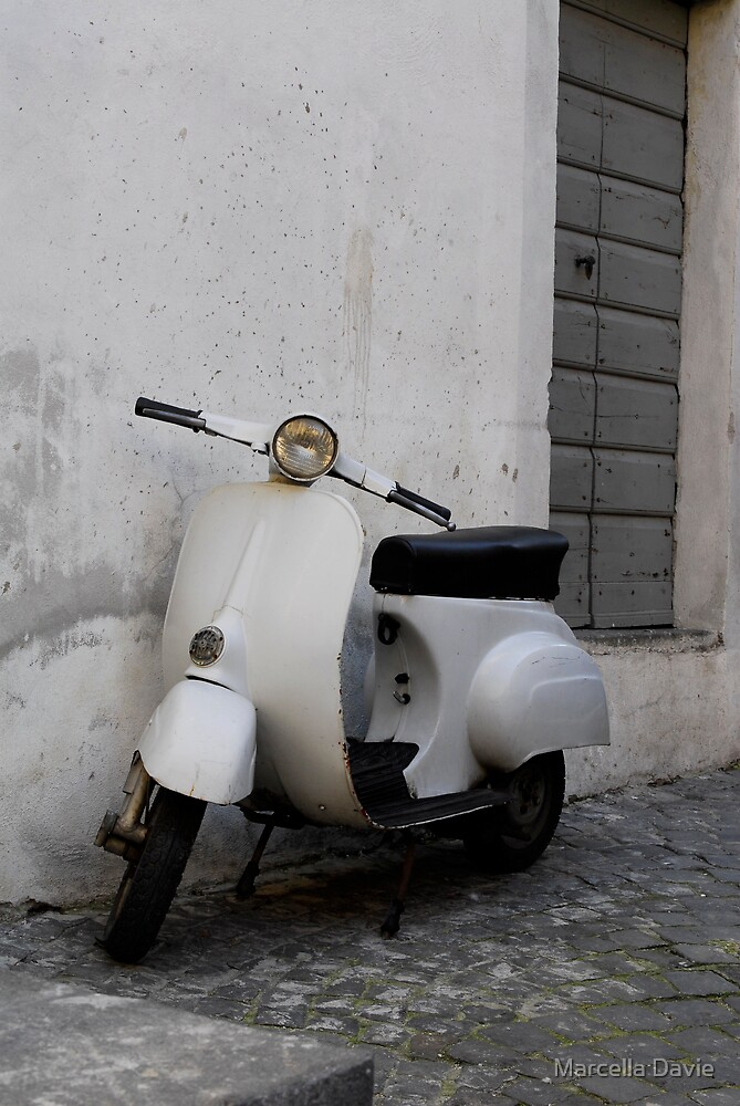 Old scooter by Marcella Davie