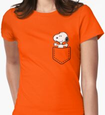 Pocket Snoopy Dog Women's Fitted T-Shirt
