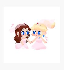 Peach & Pauline Bride Chibis Photographic Print