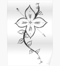 Arrow Flower Poster