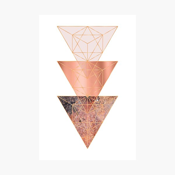 Blush and Copper Geo Photographic Print