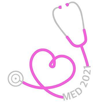 Stethoscope 2021 Pink by ArtsyPortrait