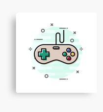 Vintage Video Game Controller Canvas Print