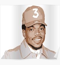 chance cartoon face painting Poster