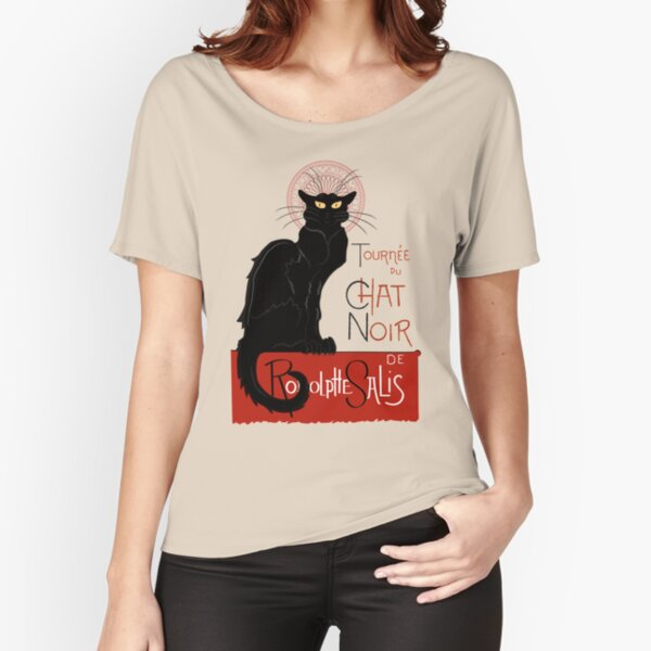 Le Chat Noir Poster Reproduction Relaxed Fit T-Shirt