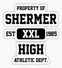Property of Shermer High Athletic Dept. Sticker