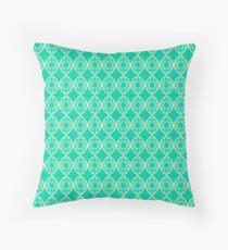 Beach Blue Pattern Throw Pillow