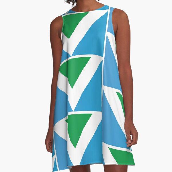 International Vegan Flag A-Line Dress