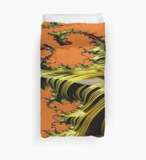 Something to hold on to...Tiger striped tentacles fractal art Duvet Cover
