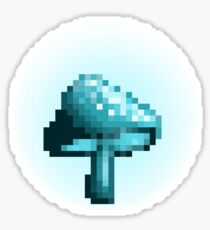 Glowing mushroom (turquoise) Sticker