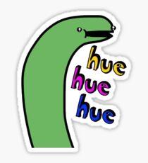 Hue Hue Hue - Tiny Snek Sticker Sticker