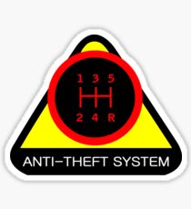 Anti-Theft System (Pattern 1) (dark) Sticker