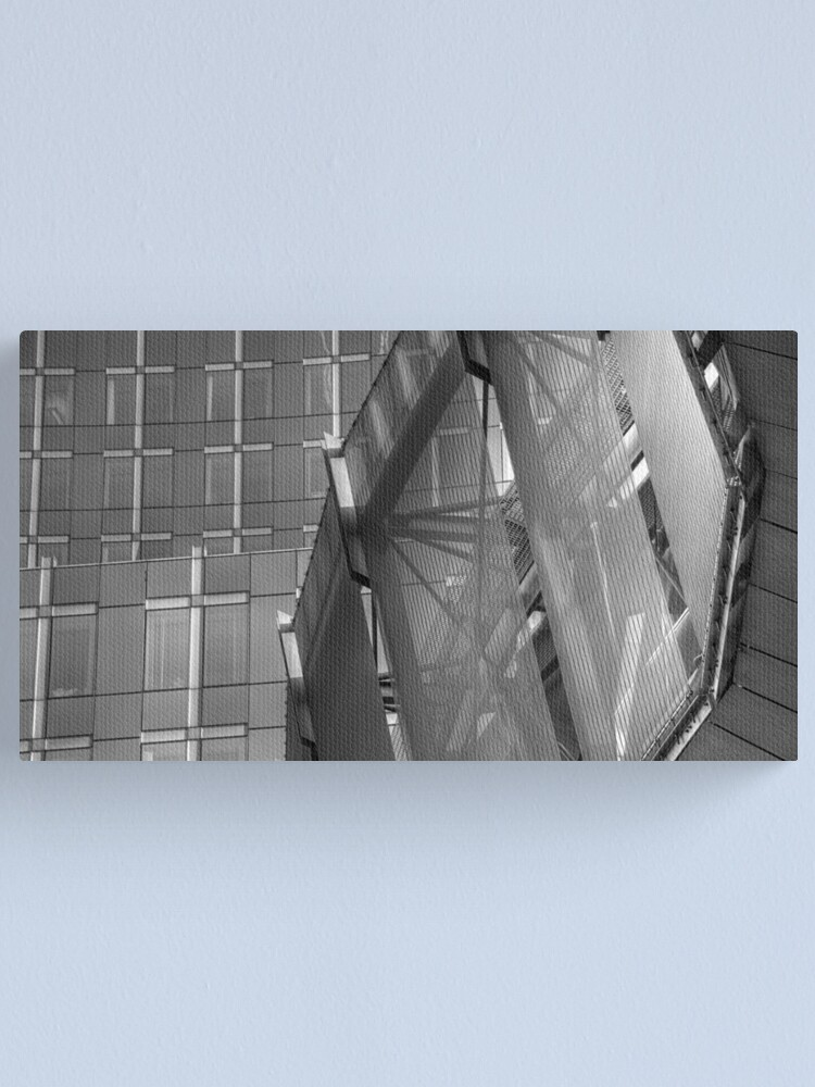Alternate view of Glass, Lines & Metal Canvas Print