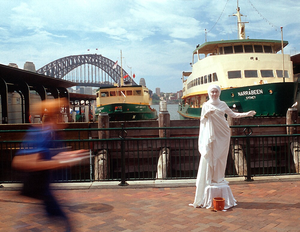 The hussle and bussle of Circular Quay, Sydney, NSW, Australia by Peter Clements