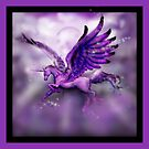Purple Winged Unicorn by Stephanie Small