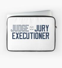 """@RunADZ_ """"Judge Jury Executioner"""" Laptop Sleeve"""