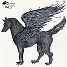Winged Wolf by Stephanie Small