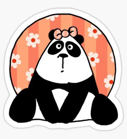 flower girl panda Sticker